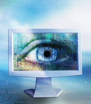 Eye computer screen