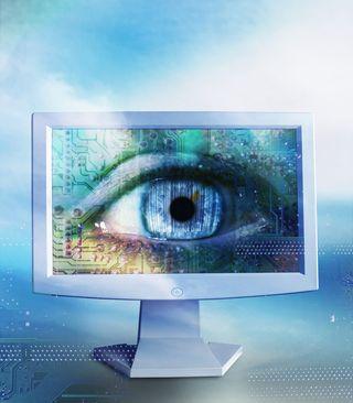 Eye computer screen