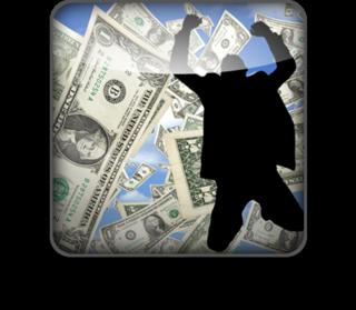 Happy man w money