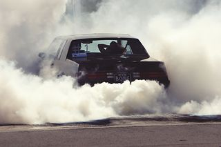 Car, smoke racing