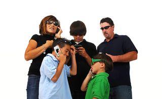Bigstock-Blended-family-of-five-talking-26134730