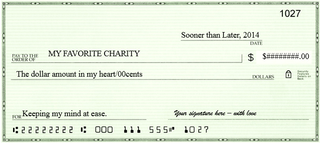 Check for charity
