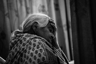 Sad granny