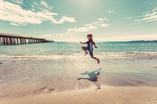 Beach child pier