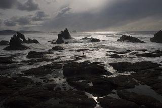 Desolate oceanscape